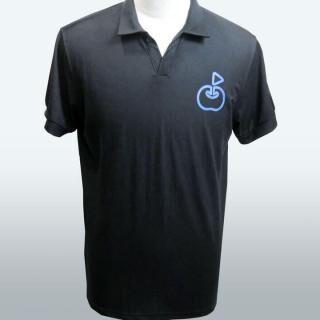 ringolf 公式ポロシャツ ワンポイント さらさら クロ L