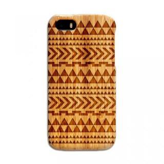 天然の竹を使った一点モノ kibaco 天然竹ケース トライアングル iPhone SE/5s/5ケース