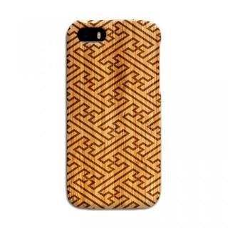 iPhone SE/5s/5 ケース 天然の竹を使った一点モノ kibaco 天然竹ケース 紗綾形 iPhone SE/5s/5ケース