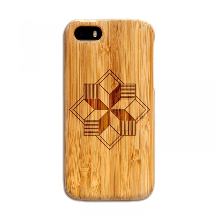 iPhone SE/5s/5 ケース 天然の竹を使った一点モノ kibaco 天然竹ケース 風車 iPhone SE/5s/5ケース_0