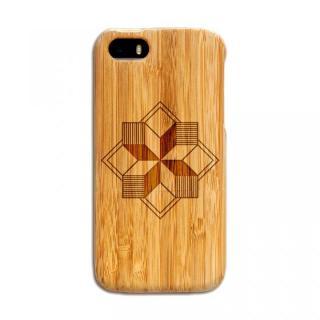 天然の竹を使った一点モノ kibaco 天然竹ケース 風車 iPhone SE/5s/5ケース