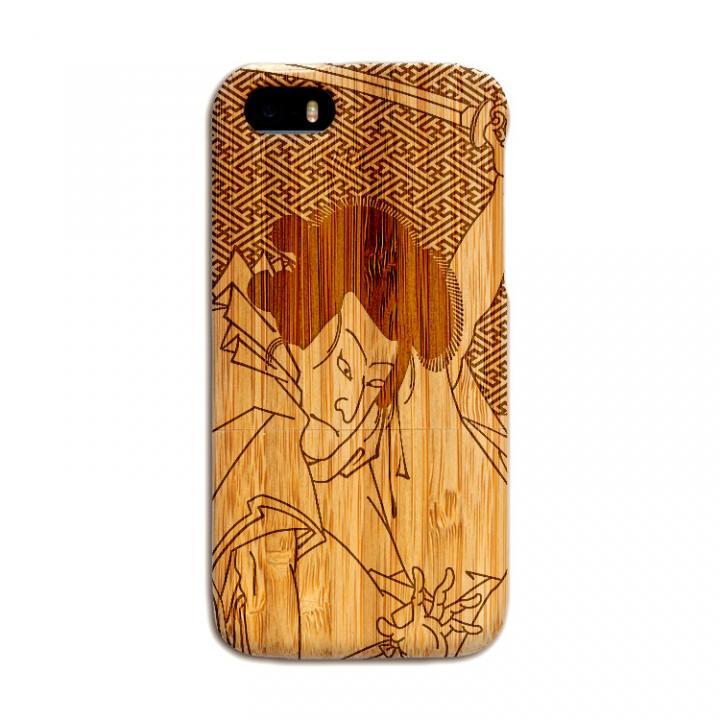 iPhone SE/5s/5 ケース 天然の竹を使った一点モノ kibaco 天然竹ケース 歌舞伎 iPhone SE/5s/5ケース_0