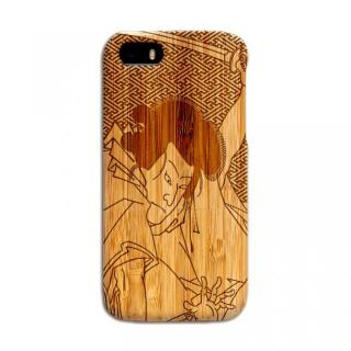 iPhone SE/5s/5 ケース 天然の竹を使った一点モノ kibaco 天然竹ケース 歌舞伎 iPhone SE/5s/5ケース