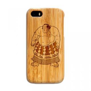 天然の竹を使った一点モノ kibaco 天然竹ケース 力士 iPhone 5s/5ケース