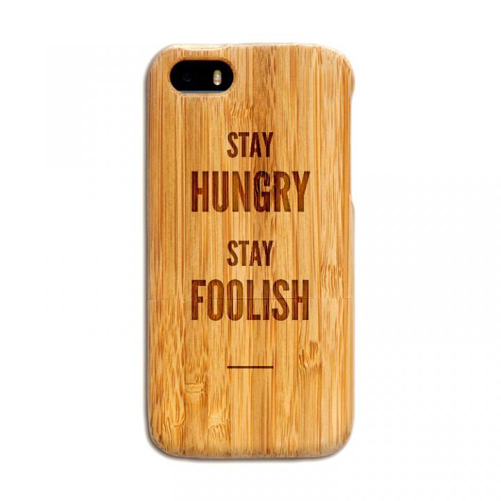 iPhone SE/5s/5 ケース 天然の竹を使った一点モノ kibaco 天然竹ケース ステイハングリー iPhone SE/5s/5ケース_0