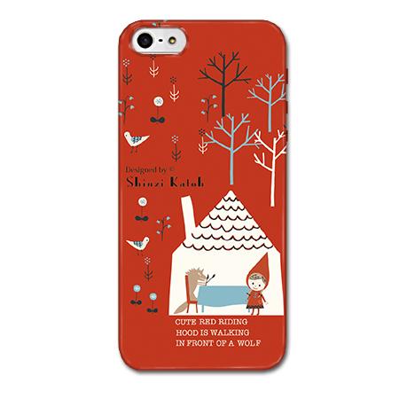 iPhone SE/5s/5 ケース Shinzi Katohデザインケース 赤ずきんRED iPhone SE/5s/5ケース_0