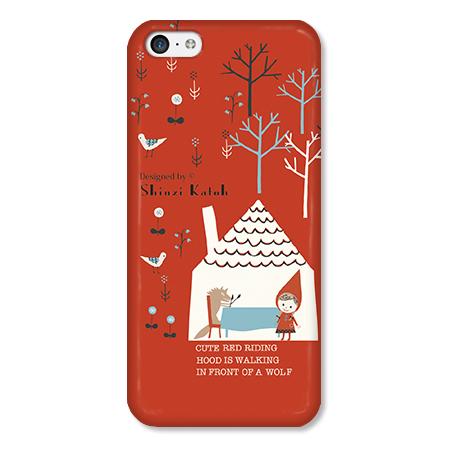 Shinzi Katohデザインケース 赤ずきんRED iPhone 5cケース_0
