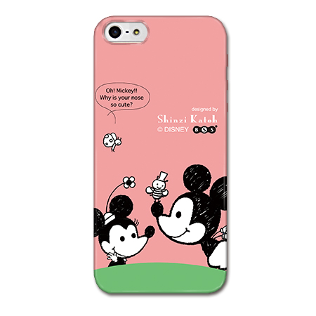 iPhone SE/5s/5 Shinzi Katoh ディズニー デザインケース ミッキー&ミニー iPhone SE/5s/5ケース_0