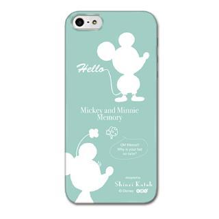 Shinzi Katoh ディズニー デザインケース ミッキー&ミニー シルエット iPhone SE/5s/5ケース