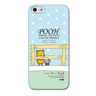 Shinzi Katoh ディズニー デザインケース プーさん ブルー iPhone SE/5s/5ケース