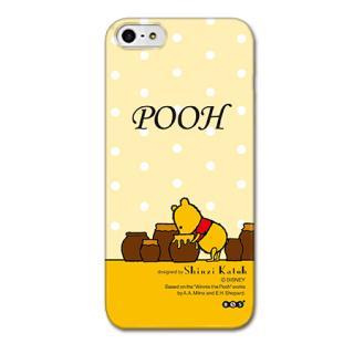 Shinzi Katoh ディズニー デザインケース プーさん イエロー iPhone SE/5s/5ケース