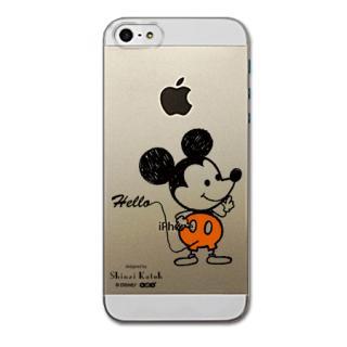 Shinzi Katoh ディズニー デザインケース ミッキー(クリア) iPhone SE/5s/5ケース