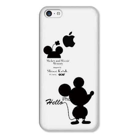 Shinzi Katoh ディズニー デザインケース ミッキー&ミニー シルエット(クリア) iPhone 5cケース_0