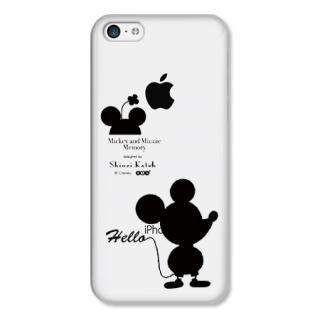 Shinzi Katoh ディズニー デザインケース ミッキー&ミニー シルエット(クリア) iPhone 5cケース