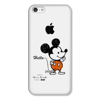 Shinzi Katoh ディズニー デザインケース ミッキー(クリア) iPhone 5cケース