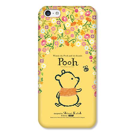 Shinzi Katoh ディズニー デザインケース プーさん 花柄 iPhone 5cケース_0