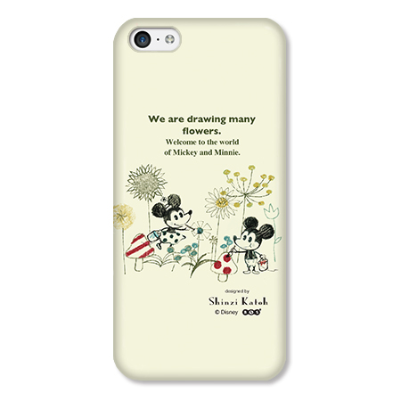 Shinzi Katoh ディズニー デザインケース ミッキー&ミニー お絵描き iPhone 5cケース_0