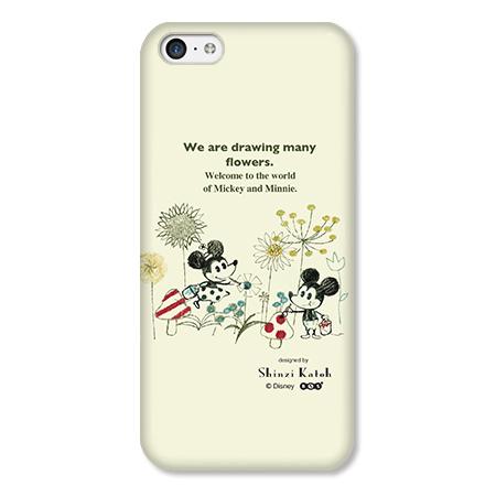 Shinzi Katoh ディズニー デザインケース ミッキー&ミニー お絵描き iPhone 5cケース