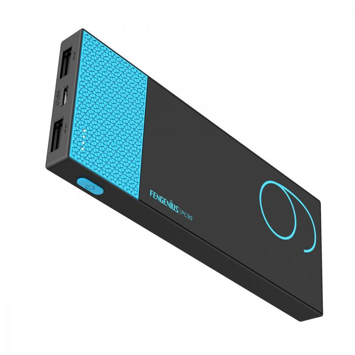 [9000mAh]超薄型・軽量9000mAh モバイルバッテリーATLセル ブルー_0