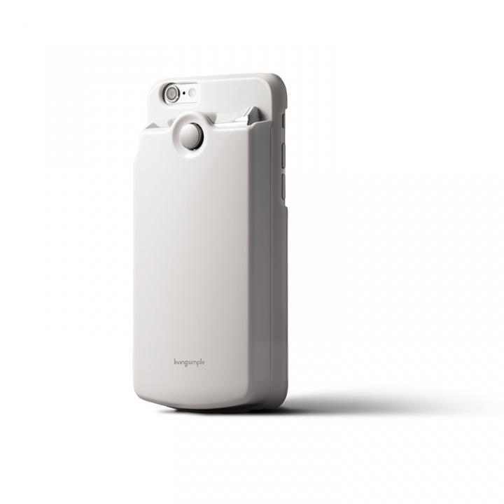 [2017夏フェス特価]カードケース付きケース The BANK ホワイト/光沢 iPhone 6s/6
