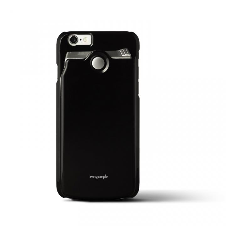 【iPhone6s/6ケース】カードケース付きケース The BANK ブラック/光沢 iPhone 6s/6_0