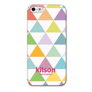 Kitson デザインケース トライアングル ホワイト iPhone SE/5s/5ケース