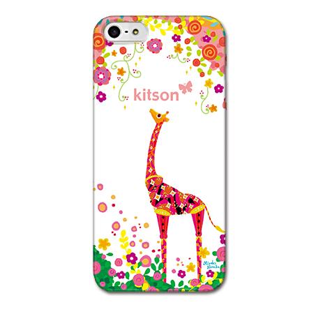 iPhone SE/5s/5 ケース Kitson デザインケース きりん ホワイト iPhone SE/5s/5ケース_0
