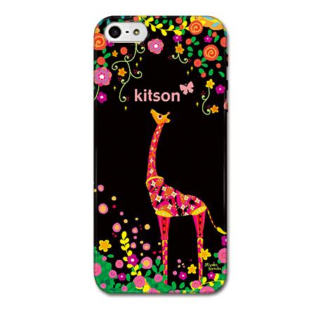 【iPhone SE/5s/5ケース】Kitson デザインケース きりん ブラック iPhone SE/5s/5ケース_0