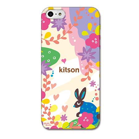 Kitson デザインケース うさぎ ホワイト iPhone SE/5s/5ケース