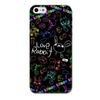 Kitson デザインケース LOVE RABBIT ブラック iPhone SE/5s/5ケース