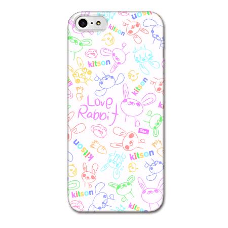 【iPhone SE/5s/5ケース】Kitson デザインケース LOVE RABBIT ホワイト iPhone SE/5s/5ケース_0