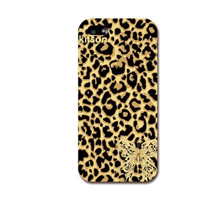 【iPhone SE/5s/5ケース】Kitson デザインケース 豹柄(通常色) iPhone SE/5s/5ケース_0