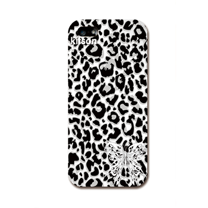 iPhone SE/5s/5 ケース Kitson デザインケース 豹柄(モノトーン) iPhone SE/5s/5ケース_0