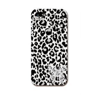 Kitson デザインケース 豹柄(モノトーン) iPhone SE/5s/5ケース