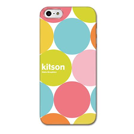 Kitson デザインケース マーブルドット ホワイト iPhone SE/5s/5ケース
