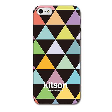 【iPhone SE/5s/5ケース】Kitson デザインケース トライアングル ブラック iPhone SE/5s/5ケース_0