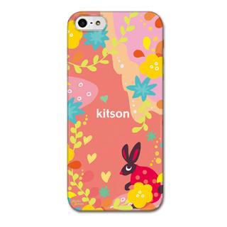 Kitson デザインケース うさぎ レッド iPhone SE/5s/5ケース