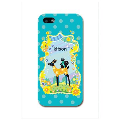 Kitson デザインケース バンビ ブルー iPhone SE/5s/5ケース