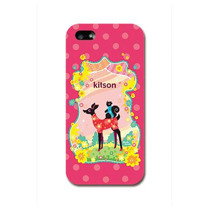 【iPhone SE/5s/5ケース】Kitson デザインケース バンビ レッド iPhone SE/5s/5ケース_0