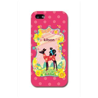 Kitson デザインケース バンビ レッド iPhone SE/5s/5ケース