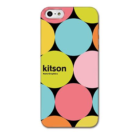 iPhone SE/5s/5 ケース Kitson デザインケース マーブルドット ブラック iPhone SE/5s/5ケース_0
