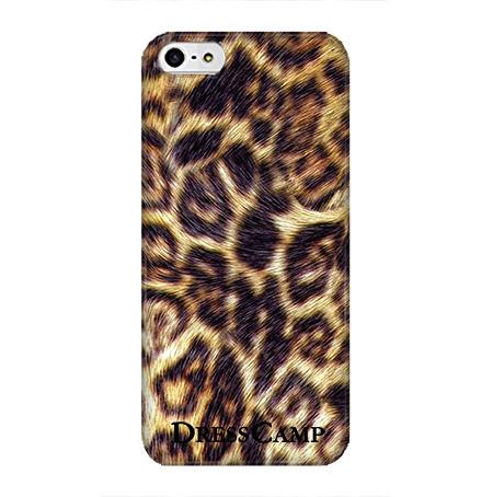 DressCamp ブランドケース リアルレオパード iPhone SE/5s/5ケース