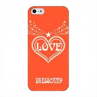 【8月上旬】DressCamp ブランドケース LOVEハート(赤) iPhone 5s/5ケース