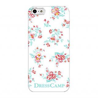 DressCamp ブランドケース 花柄(白) iPhone SE/5s/5ケース
