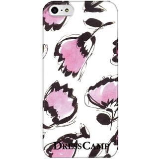 DressCamp ブランドケース ペイントフラワー iPhone SE/5s/5ケース