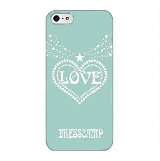 【8月上旬】DressCamp ブランドケース LOVEハート(青) iPhone 5s/5ケース