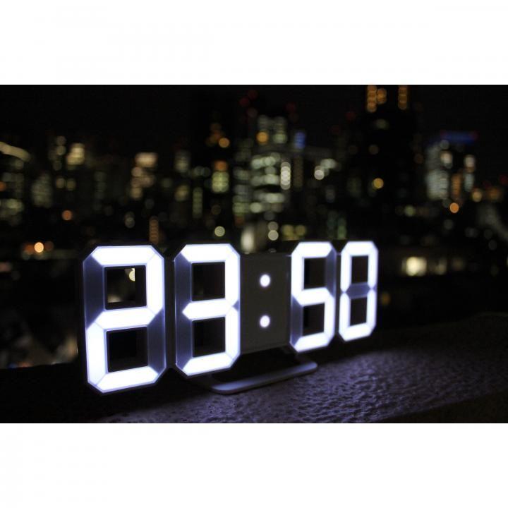 3DデザインのLEDデジタル時計 Tri Clock_0