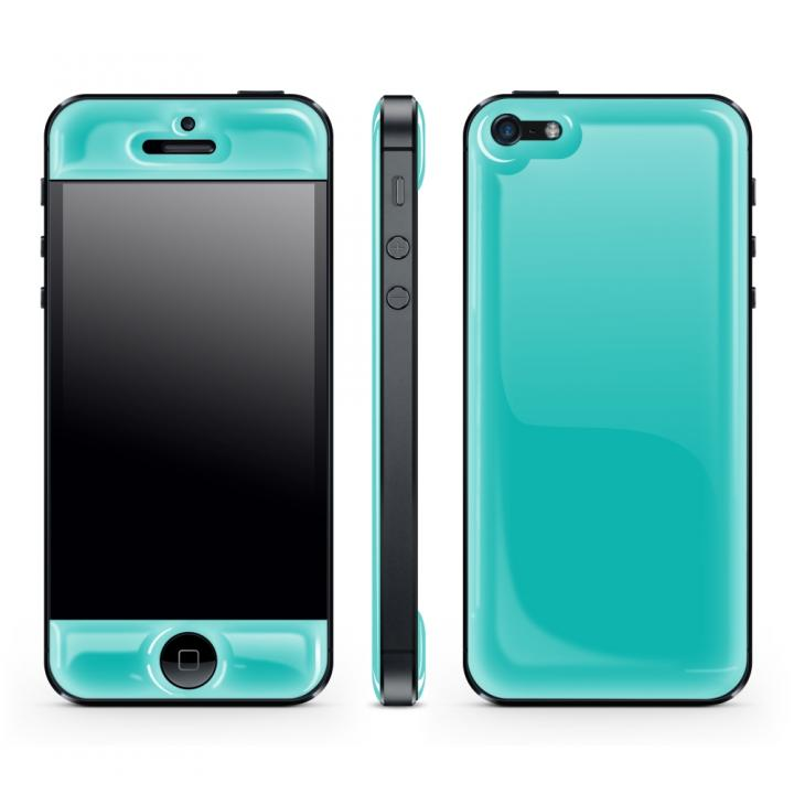 【iPhone SE/5s/5ケース】Blue Glow Gel Skin with bumper  iPhone5_0