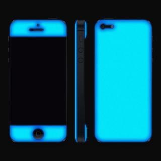 【iPhone SE/5s/5ケース】Blue Glow Gel Skin with bumper  iPhone5_5