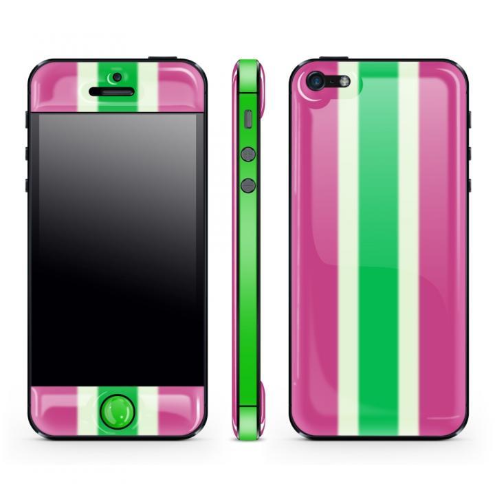 iPhone SE/5s/5 ケース Purple Stripe Glow Gel Skin with bumper  iPhone 5_0